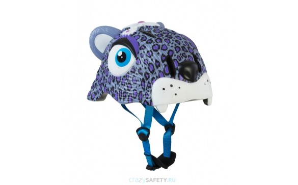 Шлем Purple Leopard 2017 New (сиреневый леопард) Crazy Safety