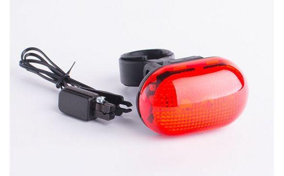 Задний красный фонарь GROS, 5 диодов, стоп-сигнал, батарейки cg-402bl-2