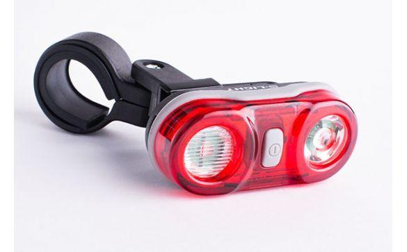 Задний красный фонарь GROS, 2 диода, батарейки CG-405r