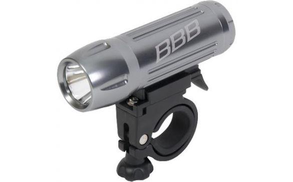 Фонарь передний BLS-61 headlight HighBeam 1W LED with 4x AAA silver