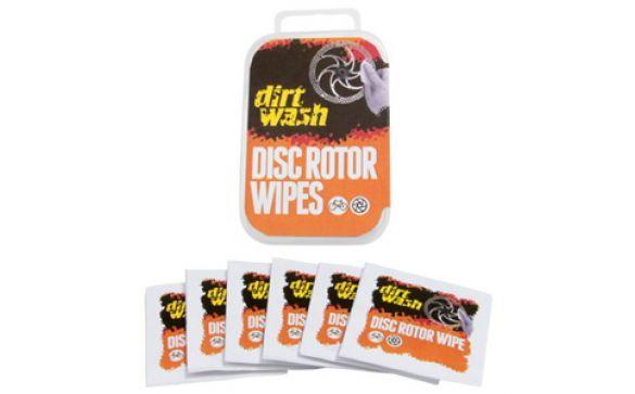 Очищающие салфетки для тормозных ротора или ободов DIRTWASH Weldtite