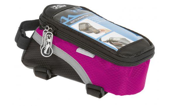 Сумочка-чехол+бокс для смартфона ROTTERDAM TOP L M-WAVE черно-розовая