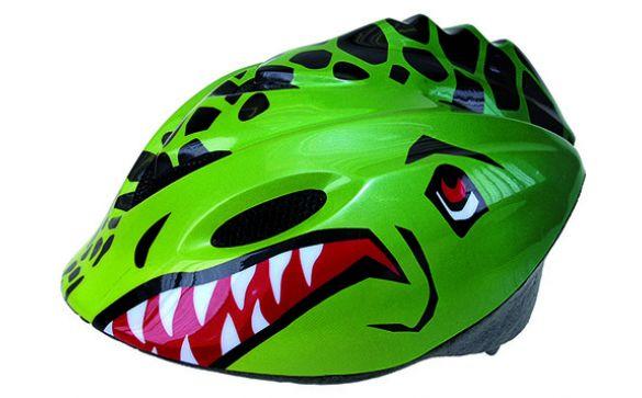 Шлем детский р-р 52-57см зеленый TYRANNOSAURUS REX Ventura