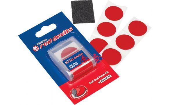 Аптечка RED DEVILS Weldtite 6 круглых суперзаплаток-самоклеек, шкурка,
