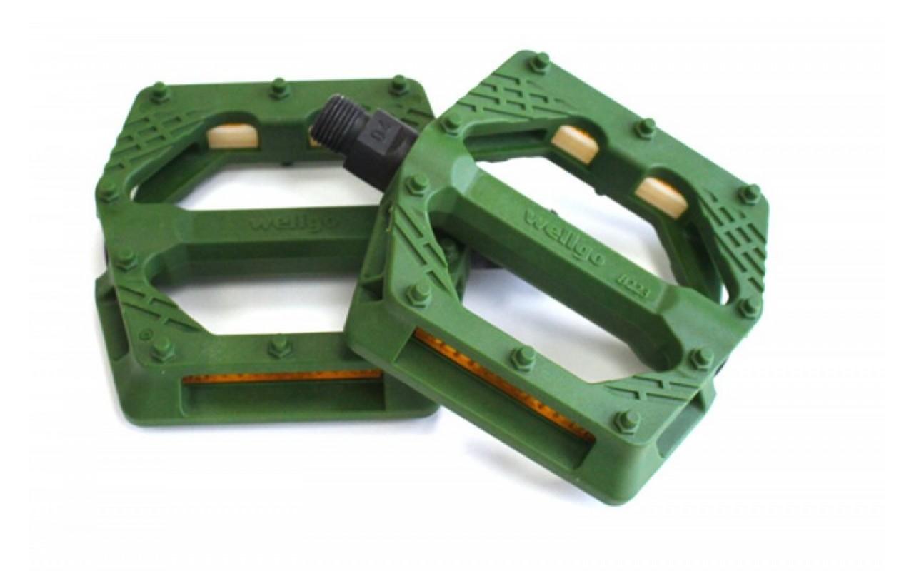 Педали BMX нейлоновые B223N Green WELLGO