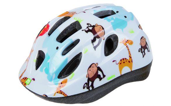 Шлем детский р-р 48-54см MIGHTY JUNIORбелый (дизайн ZOO)
