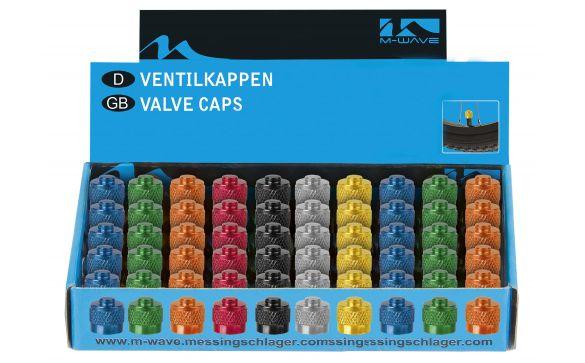 Колпачки для ниппеля M-WAVE , для автониппеля, 10 видов цвета в ассортименте, 50шт в коробке…