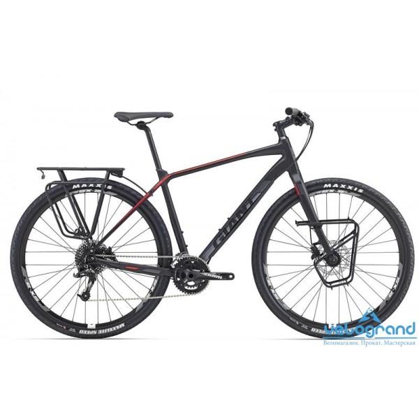 Городской велосипед Giant ToughRoad SLR 1 (2016), Цвет Черно-Красный, Размер 18