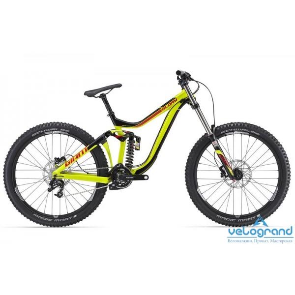 Горный велосипед Giant Glory 27.5 2 (2016), Цвет Черно-Желтый, Размер 20