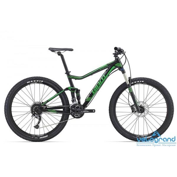 Велосипед двухподвес Giant Stance 27.5 2 (2016), Цвет Черный, Размер 20