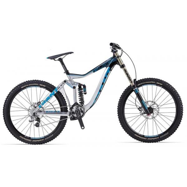 Велосипед двухподвес Giant Glory 0 (2014), Цвет Серебристый, Размер 20