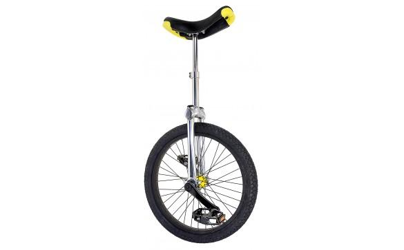 Уницикл 20 одноколесный велосипед серебристый FUN
