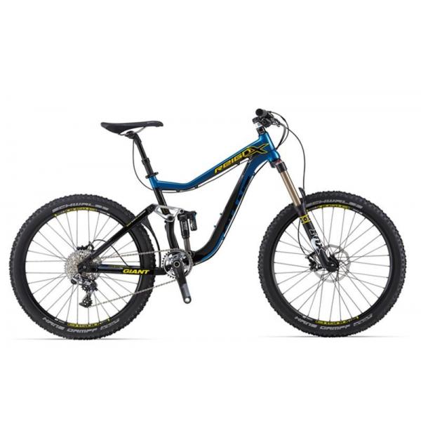 Велосипед двухподвес Giant Reign X0 (2014), Цвет Сине-Черный, Размер 18