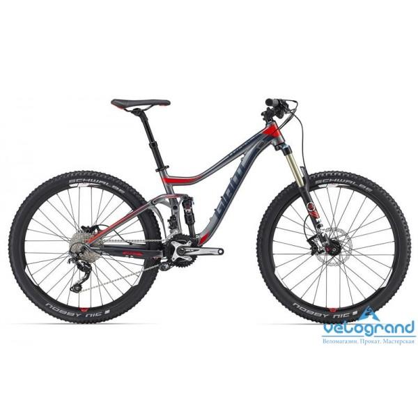 Велосипед двухподвес Giant Trance 27.5 2 (2016), Цвет Серый, Размер 22