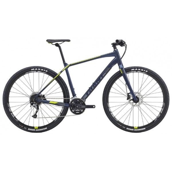 Городской велосипед Giant ToughRoad SLR 2 (2016), Цвет Сине-Зеленый, Размер 20