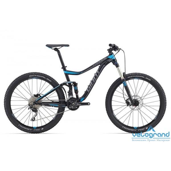 Велосипед двухподвес Giant Trance 27.5 3 (2016), Цвет Черный, Размер 22