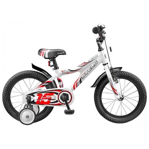 Детский велосипед Stels Pilot 180 16 (2015), Цвет Бело-Зеленый, Размер 9