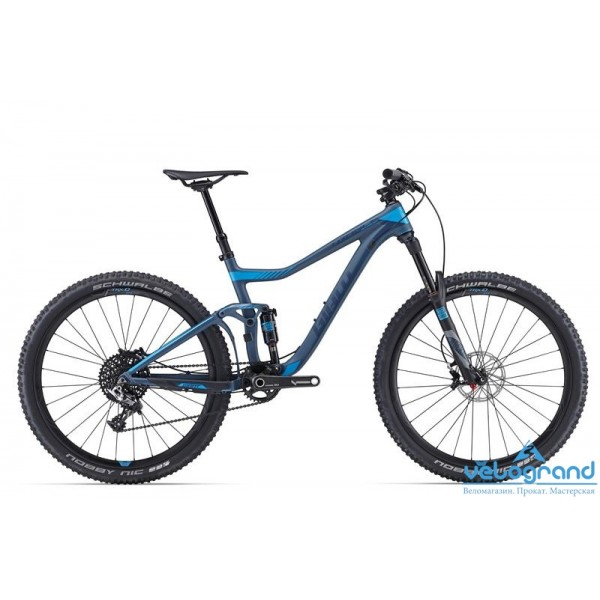 Велосипед двухподвес Giant Trance Advanced 27.5 0 (2016), Цвет Серый, Размер 18