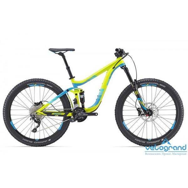 Велосипед двухподвес Giant Reign 27.5 2 (2016), Цвет Желто-Синий, Размер 20