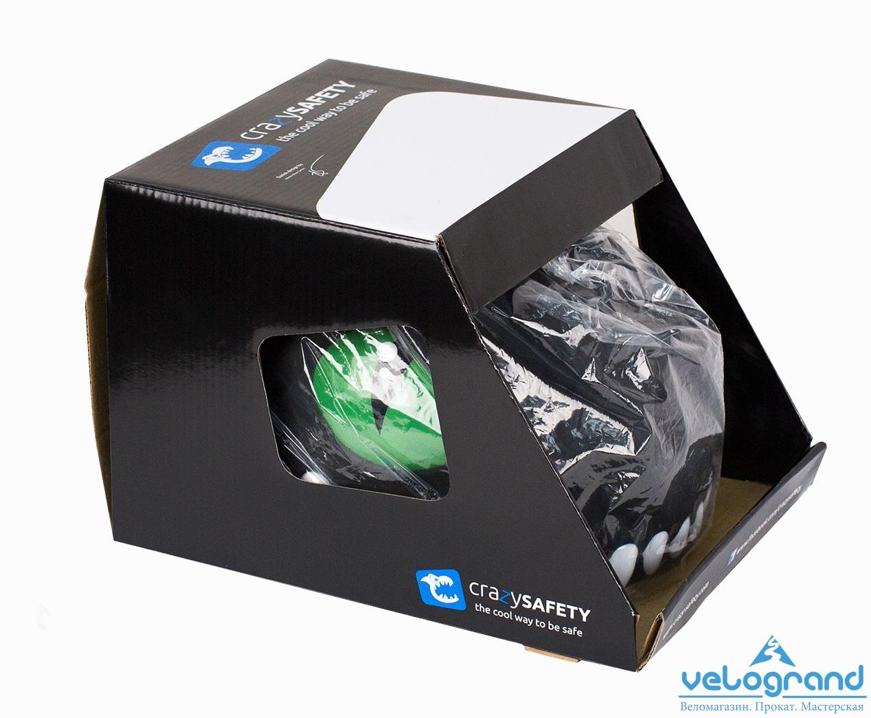 Защитный шлем черный дракон от Velogrand