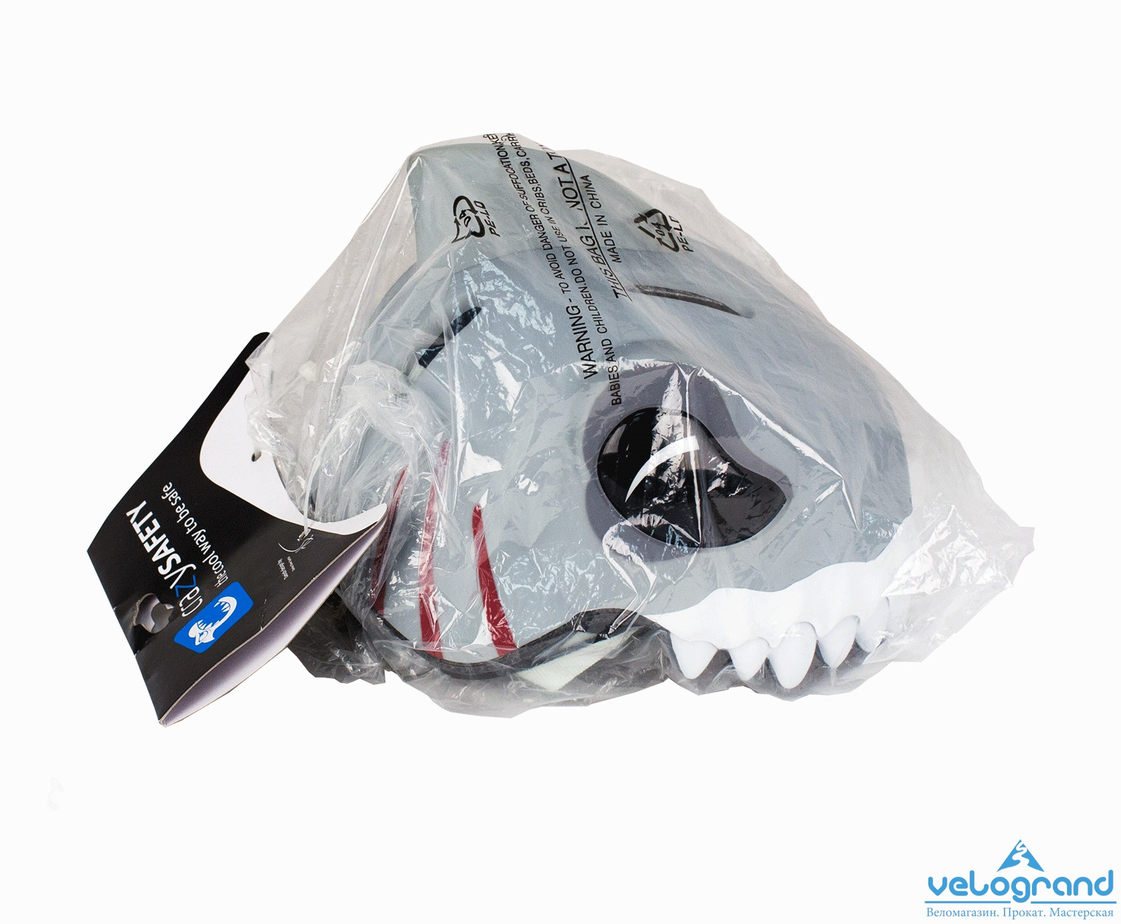 Защитный шлем белая акула от Velogrand