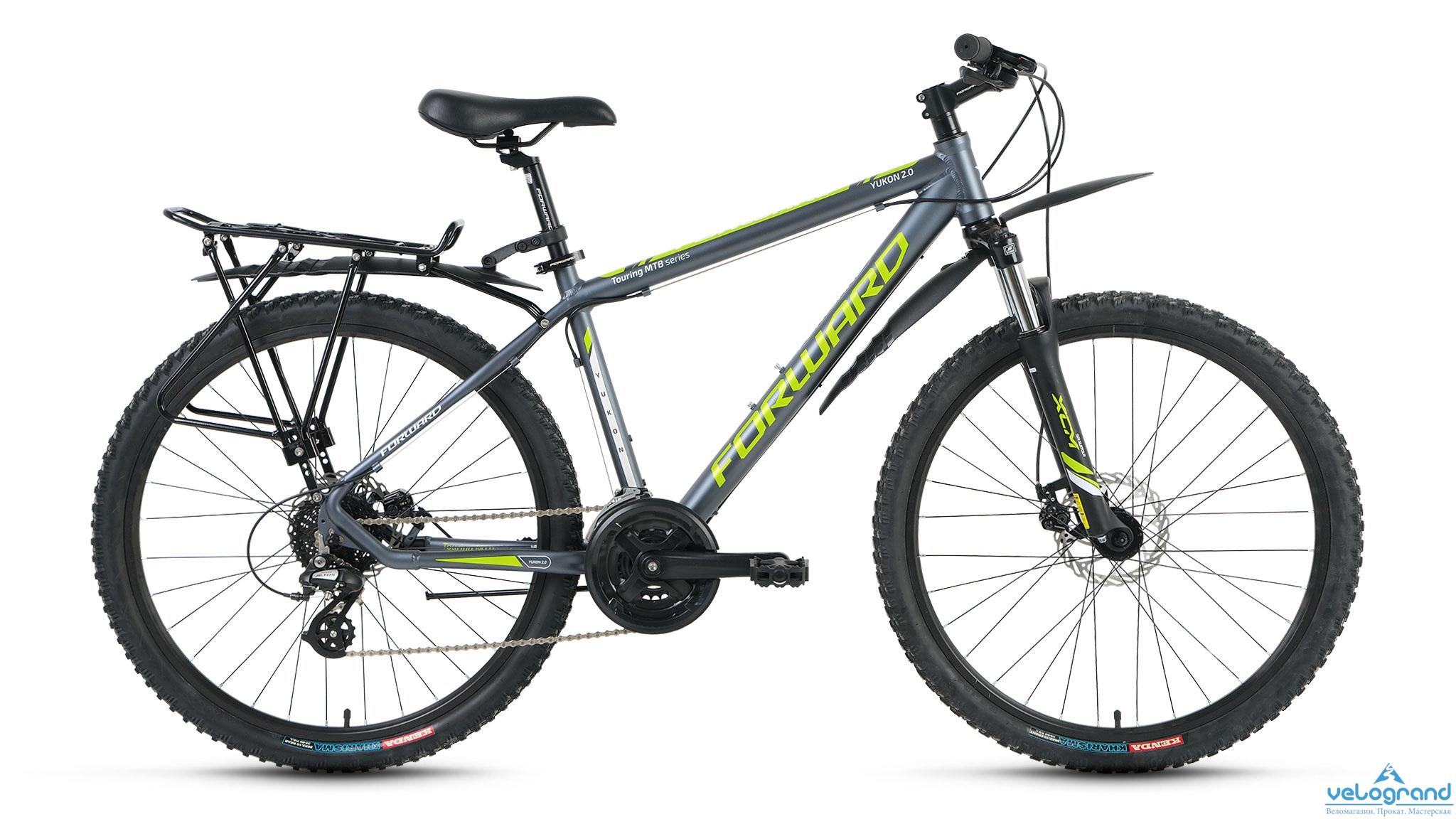 Комфортный велосипед Forward Yukon 2.0 disc (2016), Цвет Серый, Размер 19