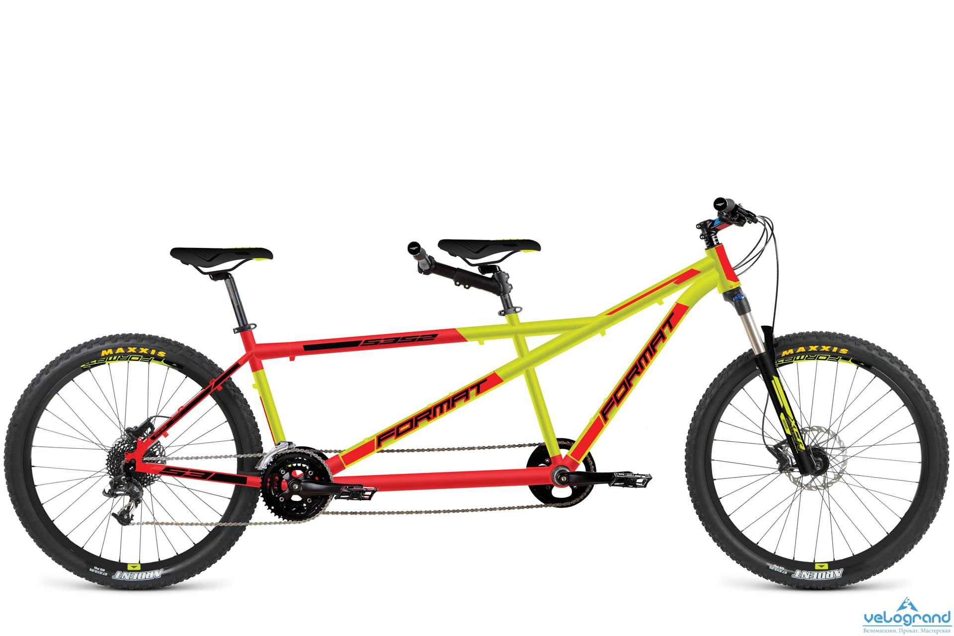 Комфортный велосипед Format 5352 (2016), Цвет Красно-Желтый