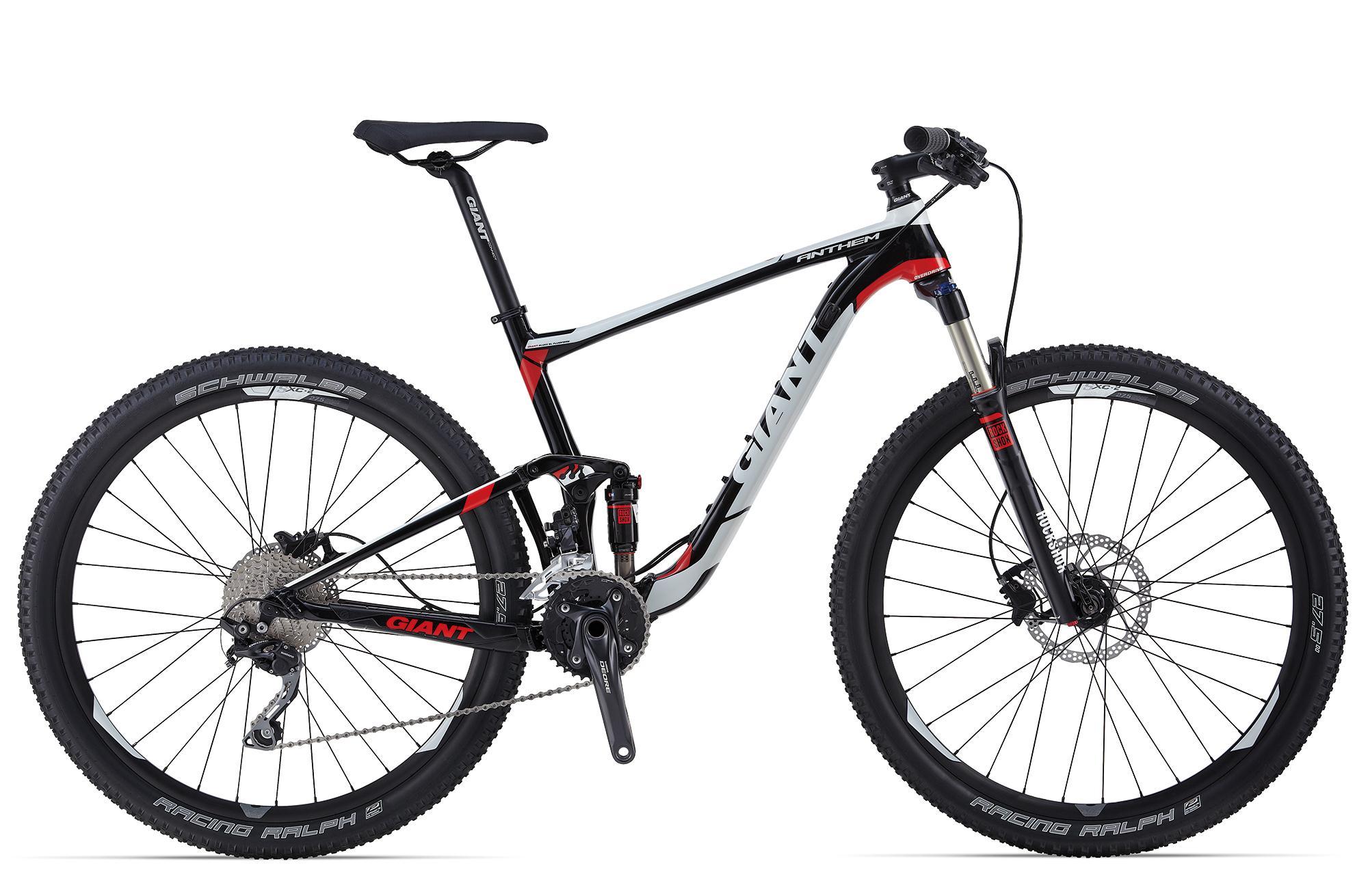 Велосипед двухподвес Giant Anthem 27.5 3 (2014), Цвет Черно-Белый, Размер 22
