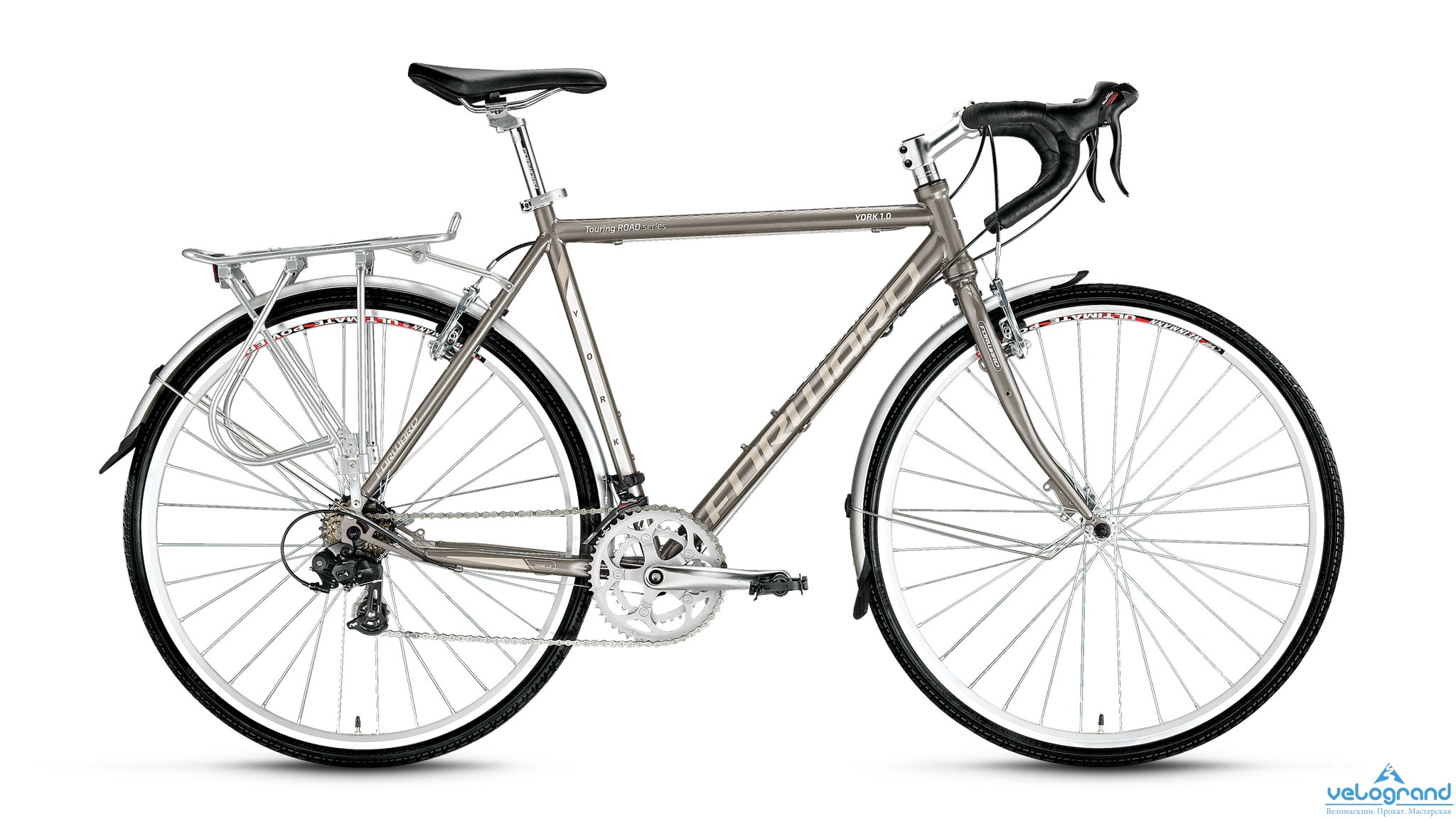 Комфортный велосипед Forward York 1.0 (2016), Цвет Серый, Размер 22