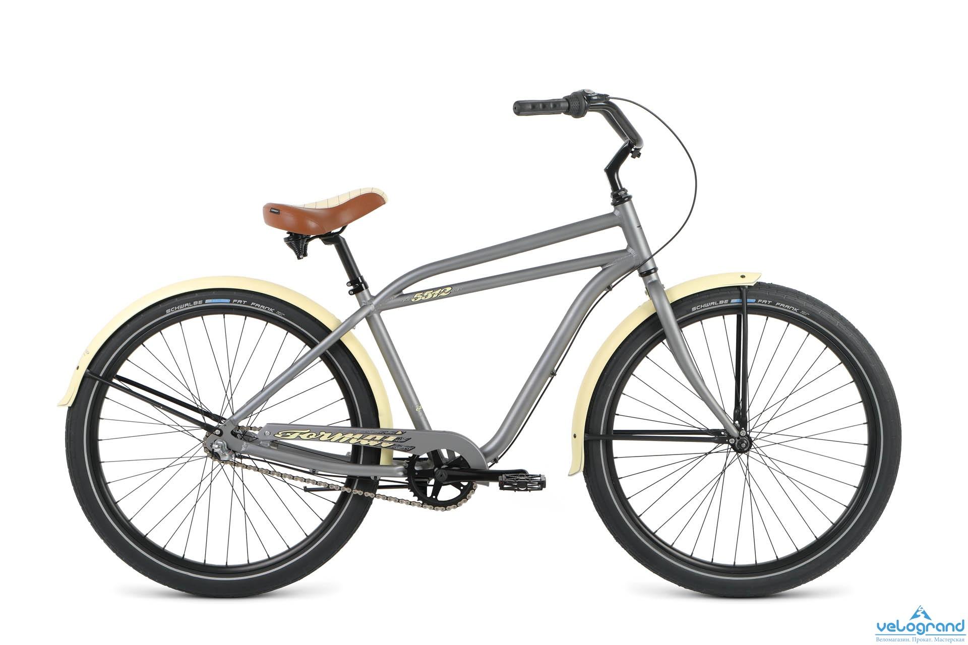 Велосипед круизер Format 5512 (2016), Цвет Серый