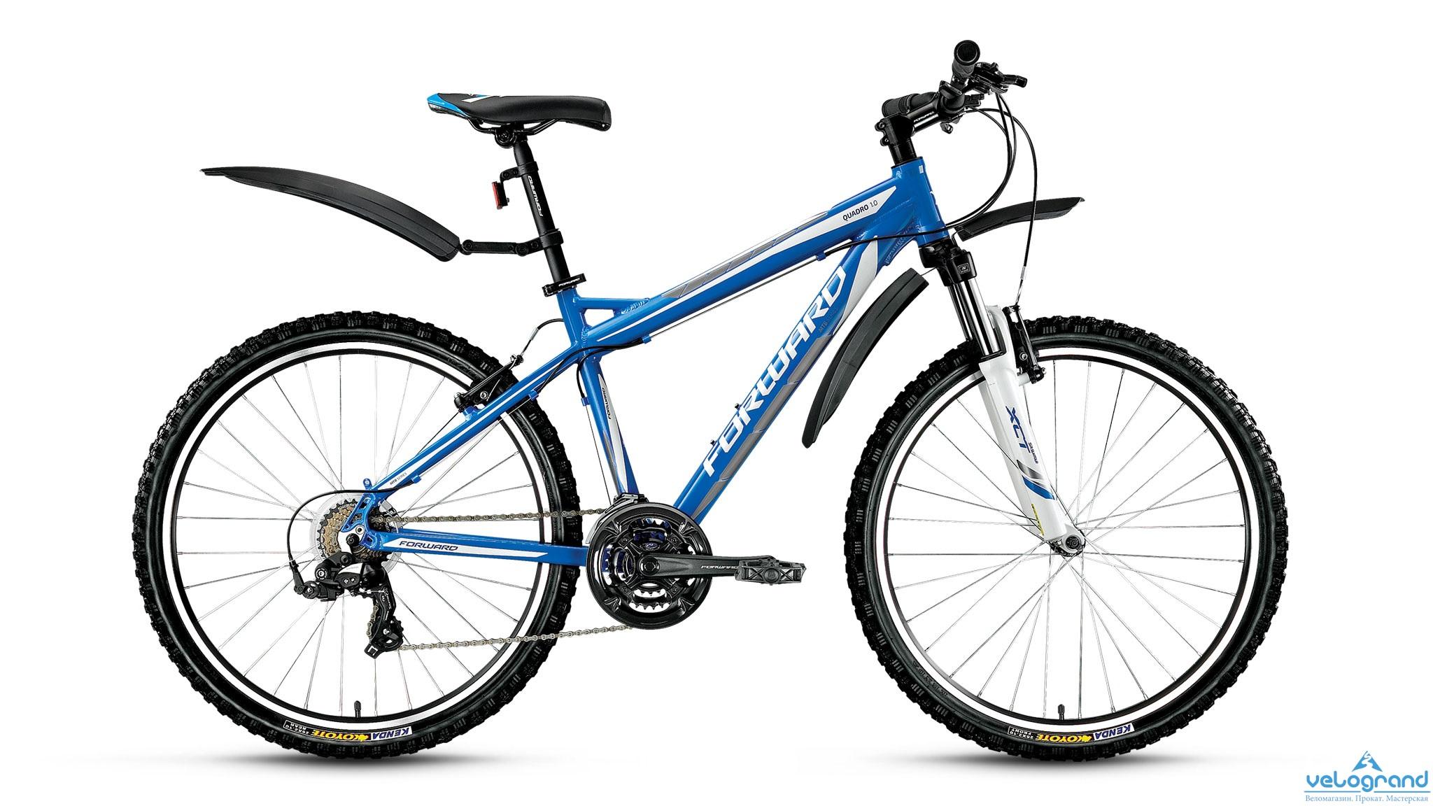 Горный велосипед Forward Quadro 1.0 (2016), Цвет Белый, Размер 17