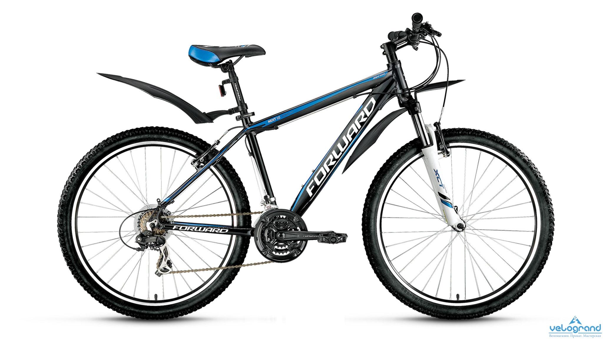 Горный велосипед Forward Next 1.0 (2016), Цвет Черный, Размер 15