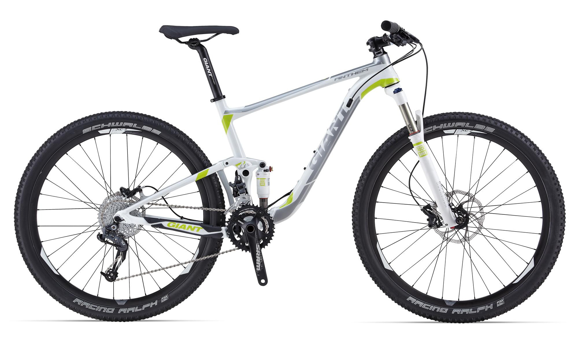 Велосипед двухподвес Giant Anthem 27.5 2 (2014), Цвет Бело-Серебристый, Размер 22
