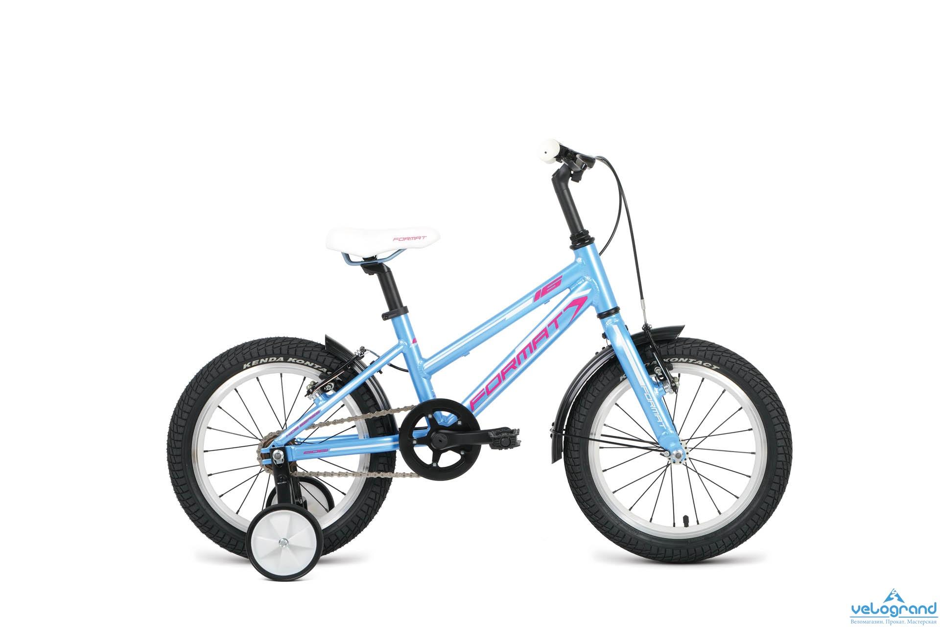 Детский велосипед Format Girl 16 (2016), Цвет Голубой