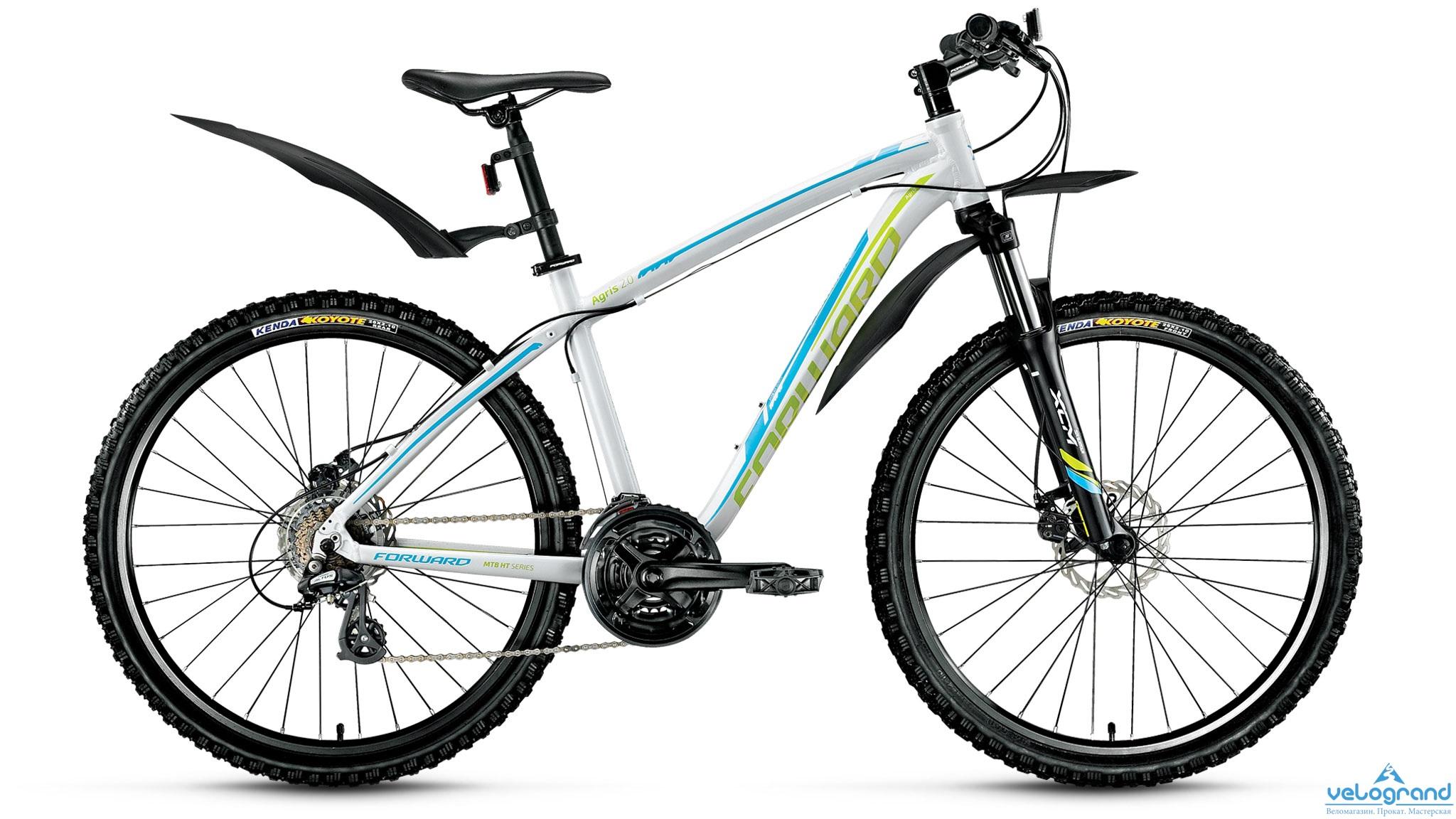 Горный велосипед Forward Agris 2.0 disc (2016), Цвет Серый, Размер 17