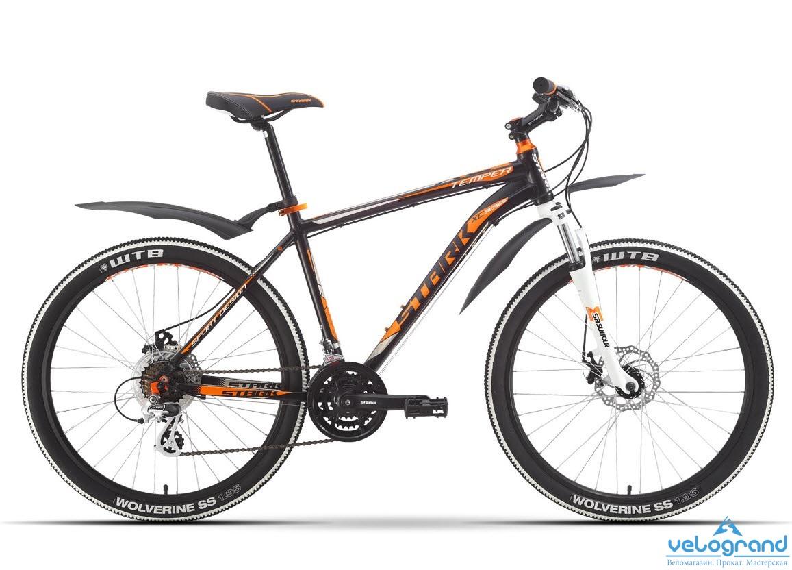 Горный велосипед Stark Temper Disc (2016), Цвет Красно-Оранжевый, Размер 18
