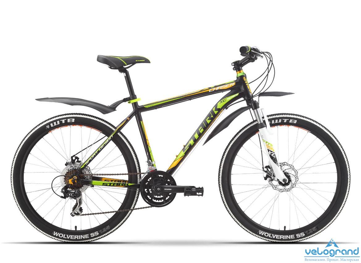 Горный велосипед Stark Chaser Disc (2016), Цвет Серебристо-Красный, Размер 16