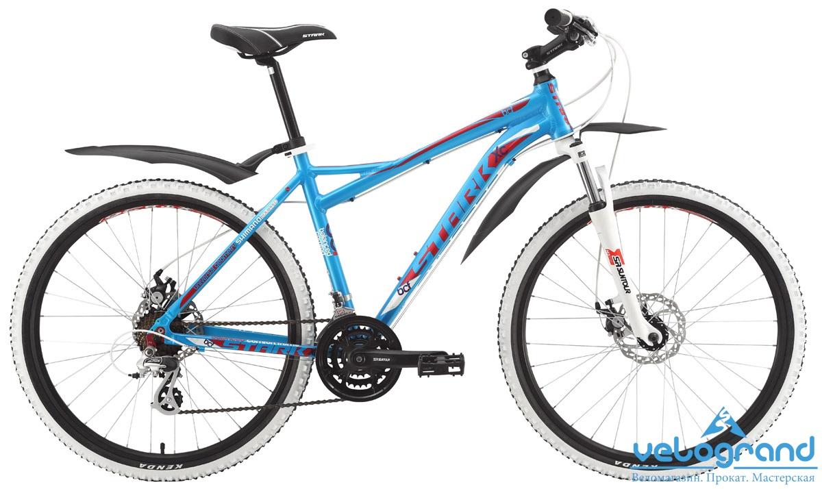 Горный велосипед Stark Antares Disc (2015), Цвет Голубо-Красный, Размер 18