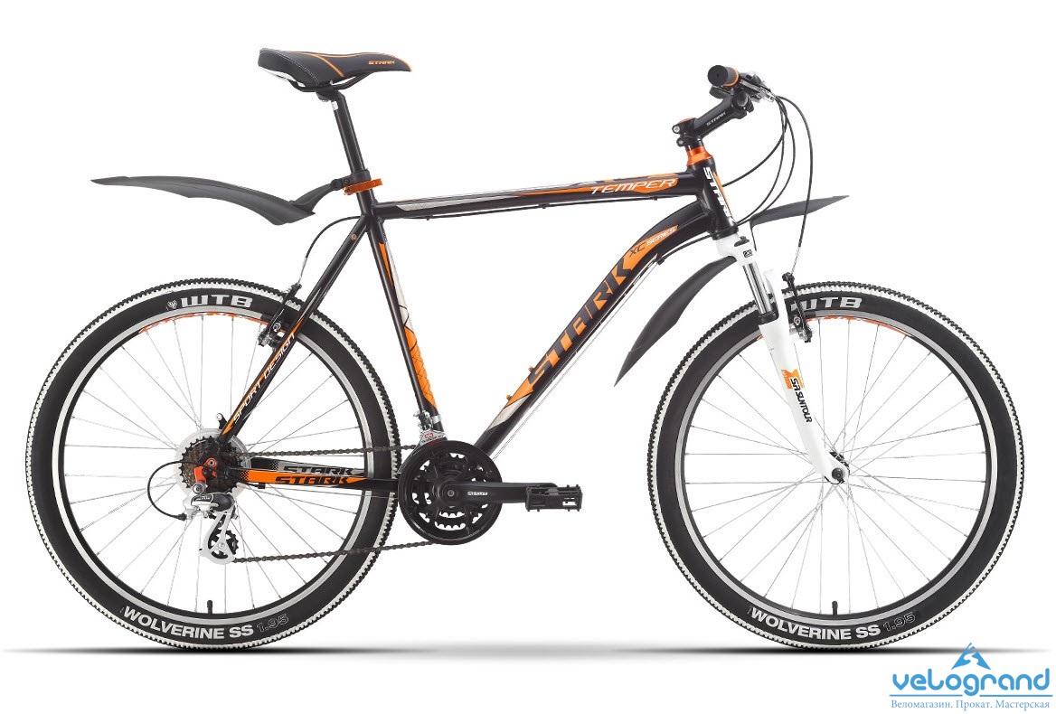 Горный велосипед Stark Temper (2016), Цвет Черно-Оранжевый, Размер 18