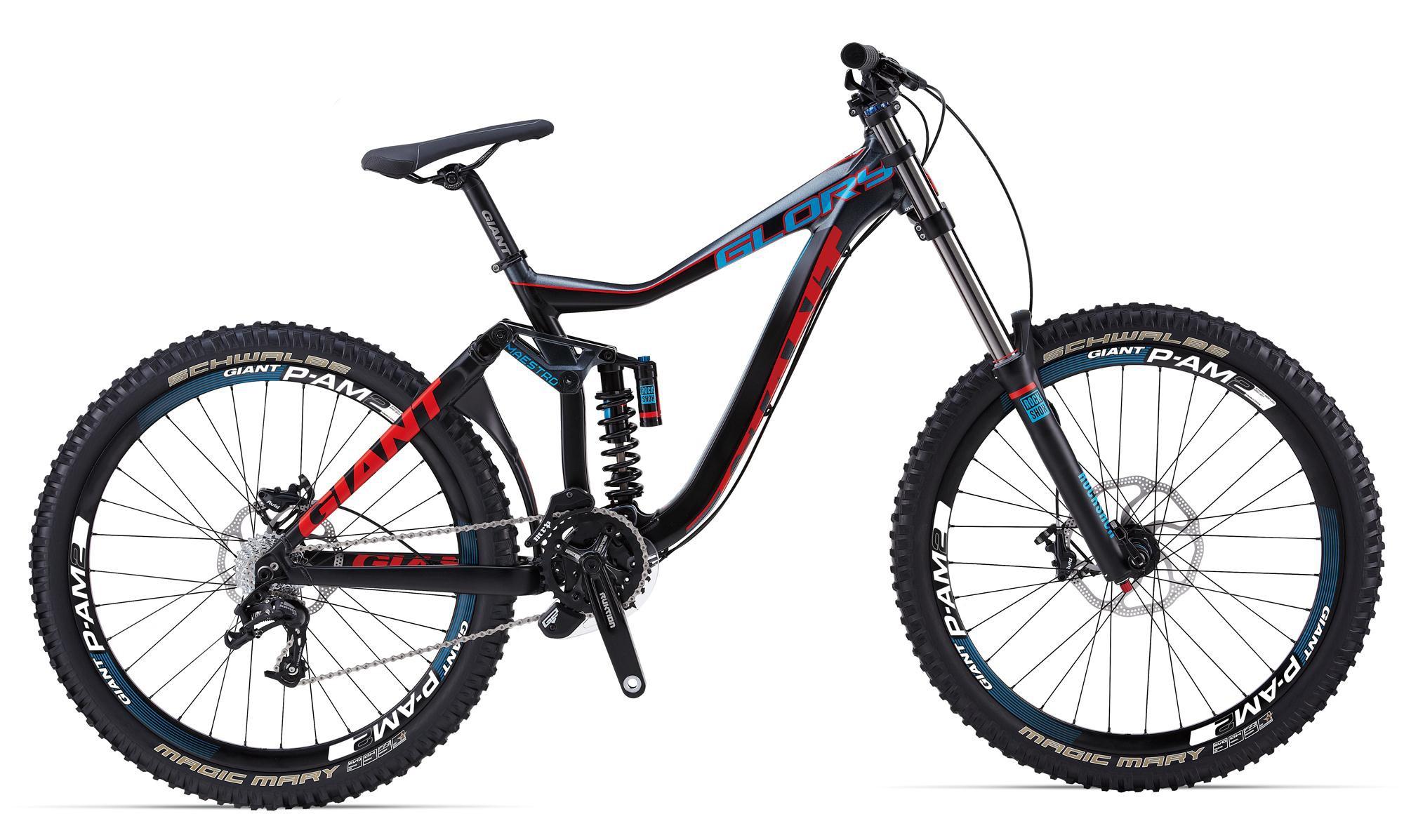 Велосипед двухподвес Giant Glory 2 (2014), Цвет Черно-Красный, Размер 18