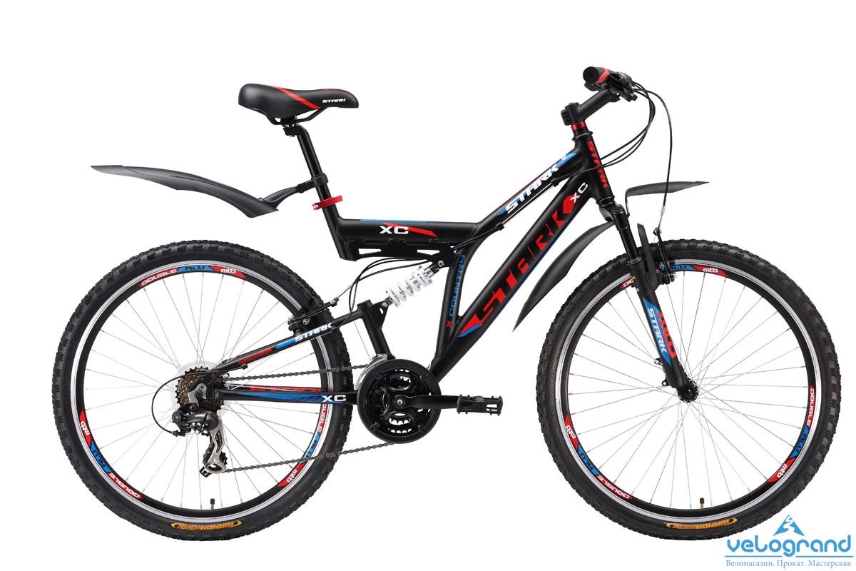 Велосипед двухподвес Stark Jumper (2016), Цвет Черно-Красный, Размер 20