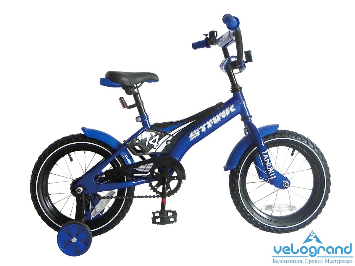 Детский велосипед Stark Tanuki 14 boy (2015), Цвет Синий
