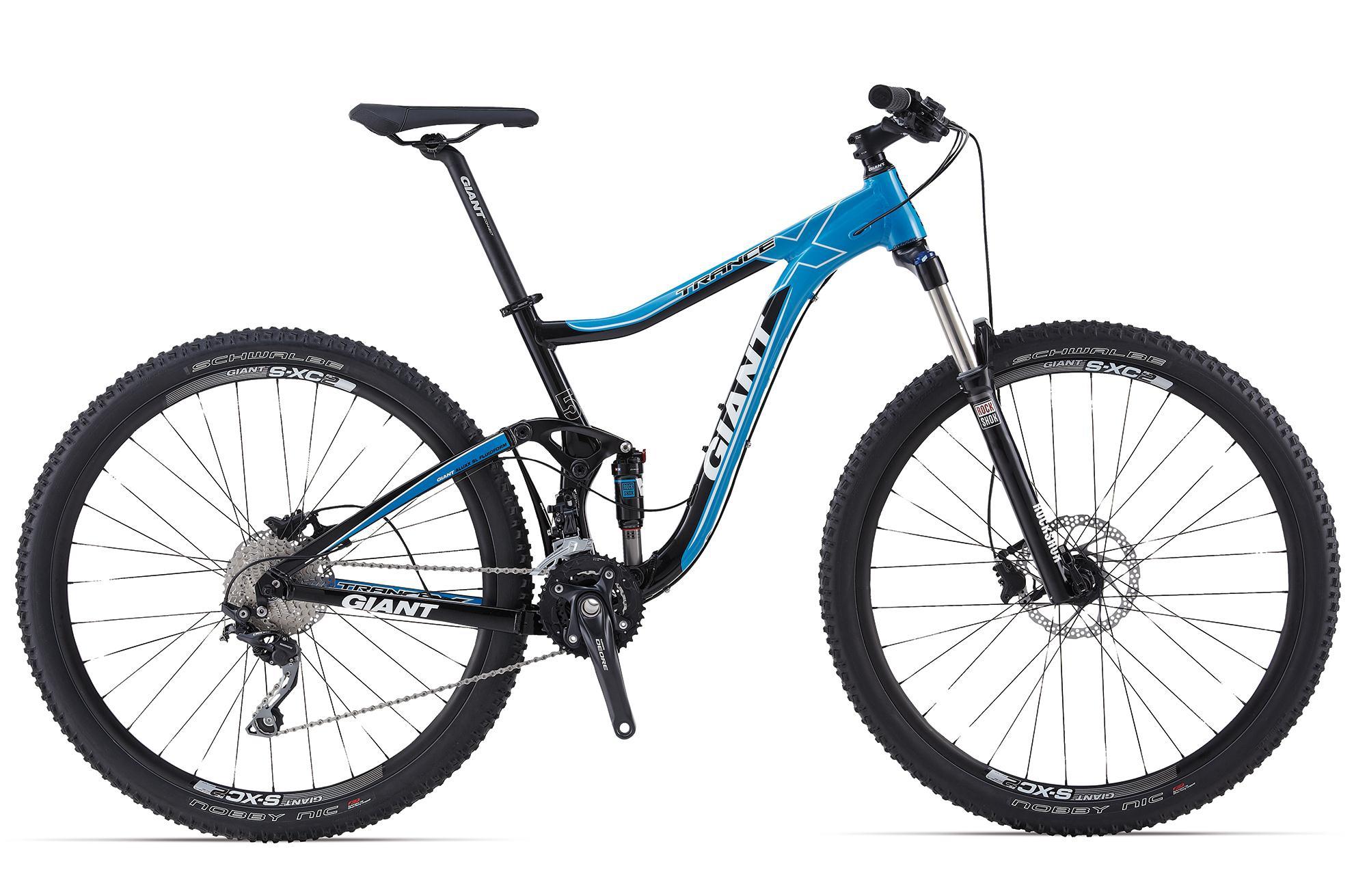 Велосипед двухподвес Giant Trance X 29ER 2 (2014), Цвет Сине-Черный, Размер 20