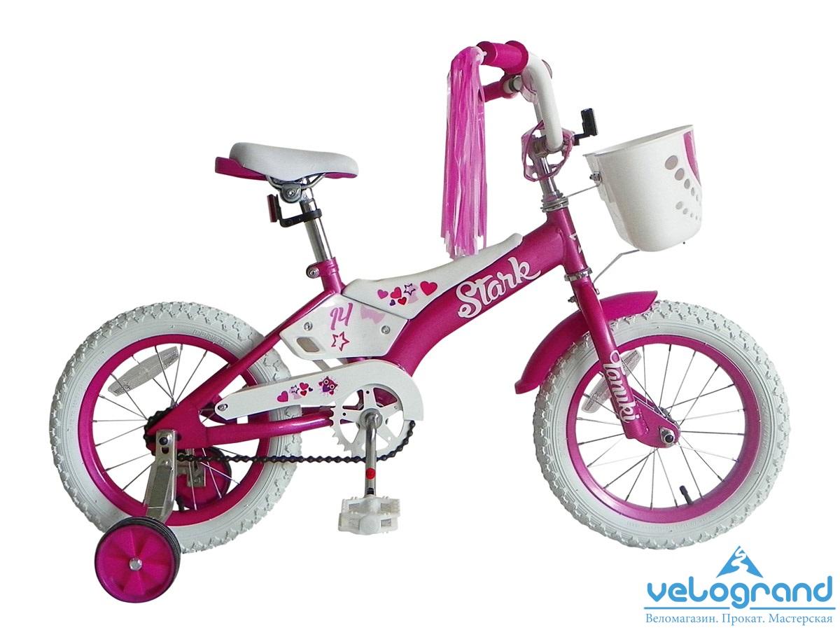 Детский велосипед Stark Tanuki 14 girl (2015), Цвет Розовый