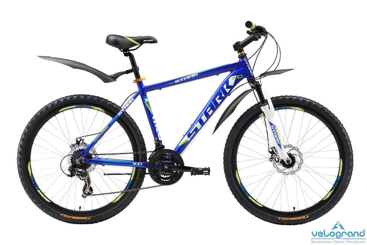 Горный велосипед Stark Hunter Disc (2016), Цвет Сине-Зеленый, Размер 16