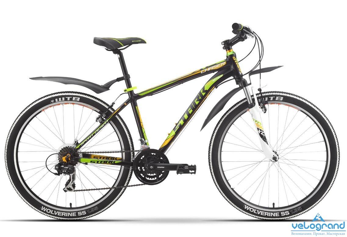 Горный велосипед Stark Chaser (2016), Цвет Черно-Зеленый, Размер 18