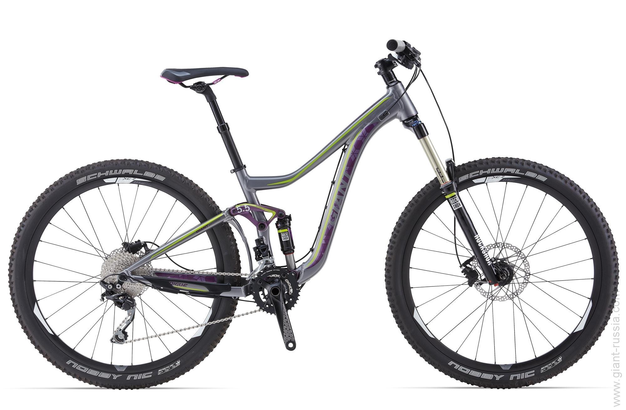 Велосипед двухподвес Giant Intrigue 27.5 2 (2014), Цвет Серебристый, Размер 18