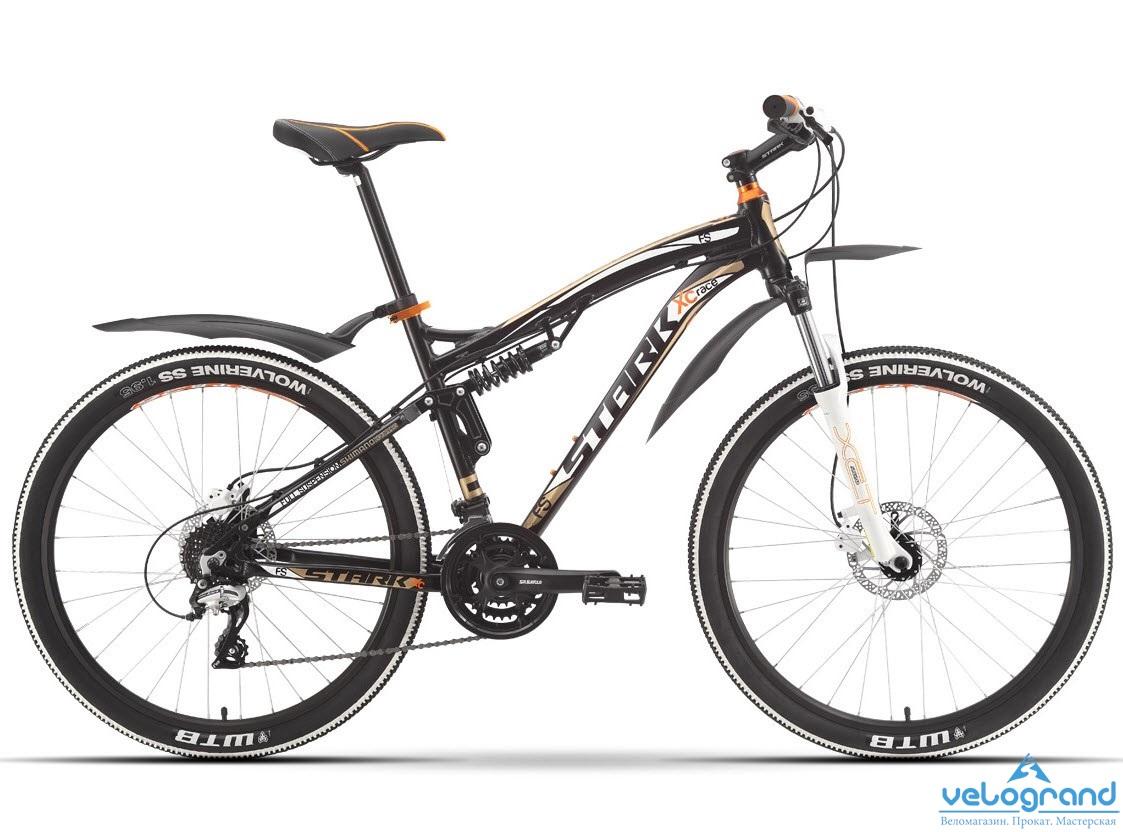 Велосипед двухподвес Stark Stinger HD (2016), Цвет Черно-Серый, Размер 20