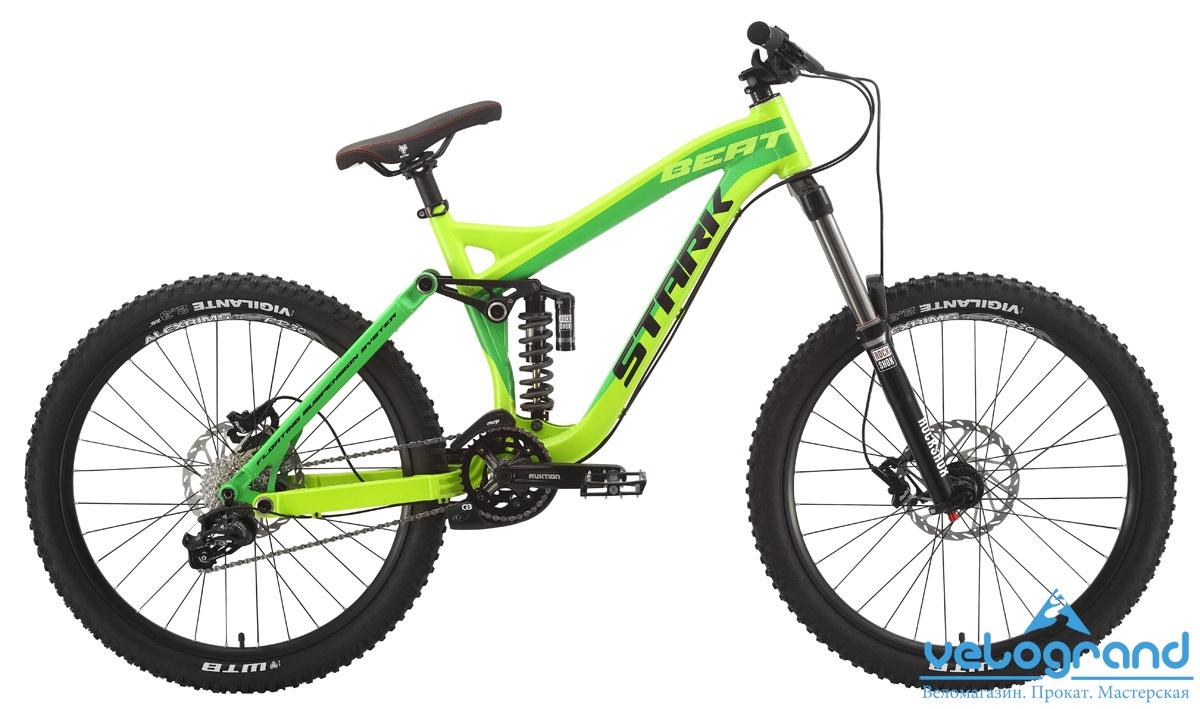 Велосипед двухподвес Stark Beat Pro (2015), Цвет Желто-Зеленый, Размер 17