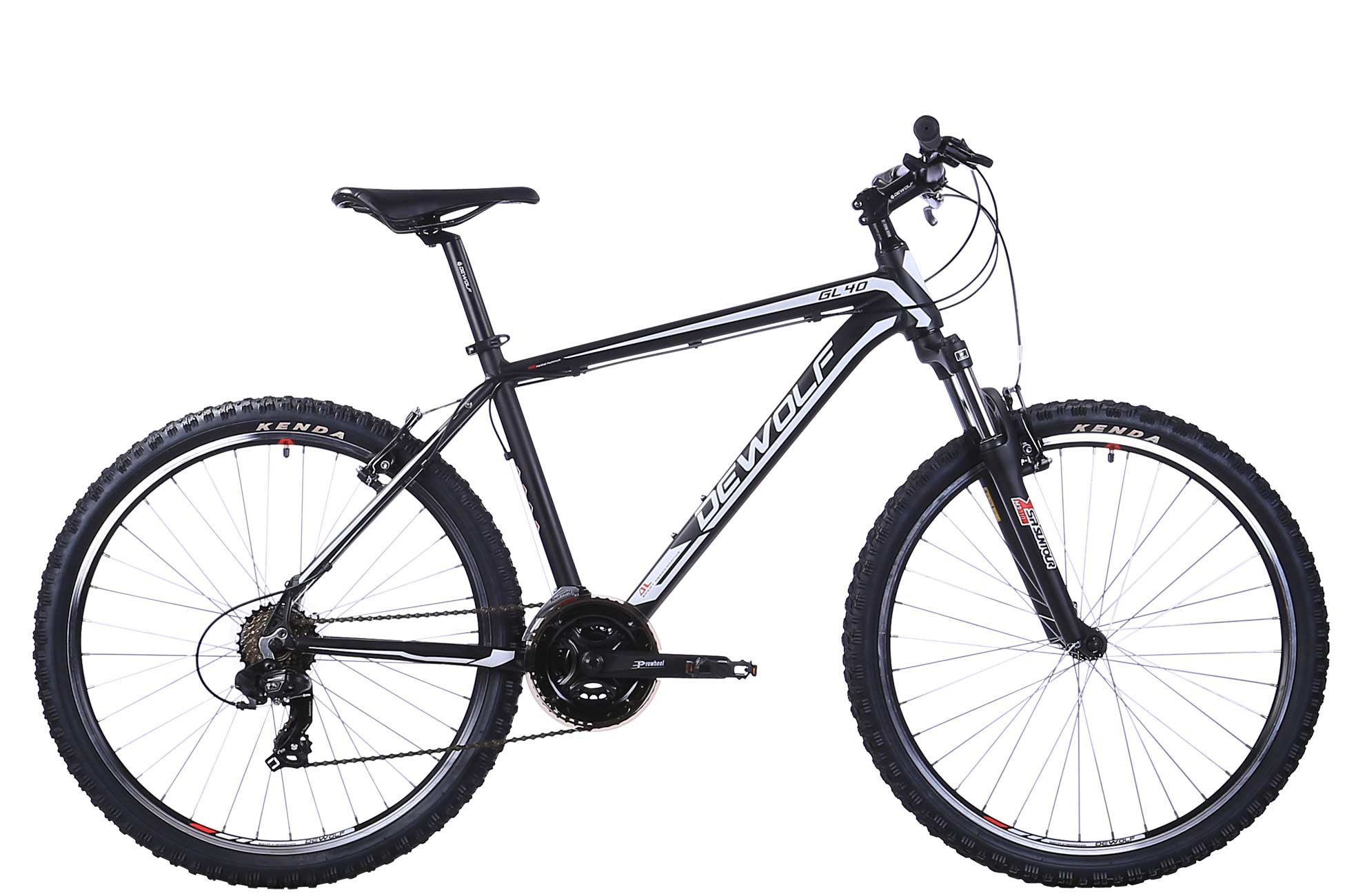 Горный велосипед DEWOLF GL 40 (2016), Цвет Черно-Белый, Размер 20